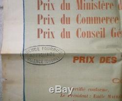 Superbe Affiche Courses De Chevaux À Valence (drôme) Signée Coulet 1903
