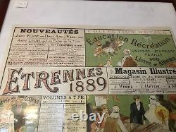 Superbe Affiche Hetzel Jules Verne Originale 1889