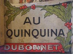 Superbe carton calendrier Dubonnet par René Vincent petit chaperon rouge 1913