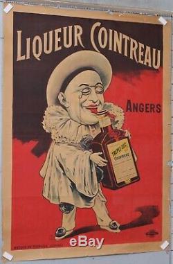 TAMAGNO Affiche ancienne ci1920 LIQUEURS COINTREAU ANGERS TRIPLE SEC RUBAN ROUGE
