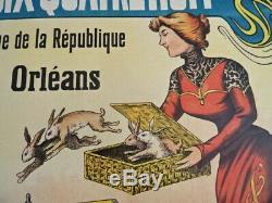 TOP +++ AFFICHE Poster ART NOUVEAU MAGICIEN CHAPEAU LAPIN Magician Hat Rabbit