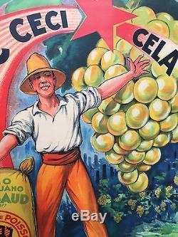 Tableau Affiche publicitaire Litho Ancienne Super Guano ANGIBAUD par A Galland