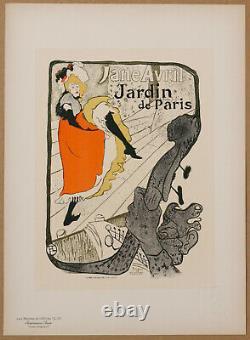Toulouse Lautrec Jane Avril Jardin De Paris Les Maitres De L'affiche Pl. 110