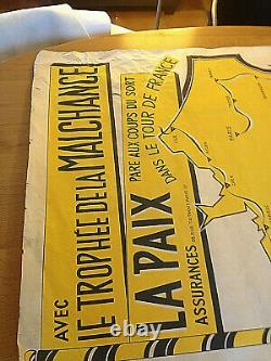 Tour De France 1954 Affiche Originale Henri Oziouls