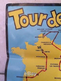 Tour de france aubagne rare affiche originale 1969 vélo cyclisme gimondi merkx