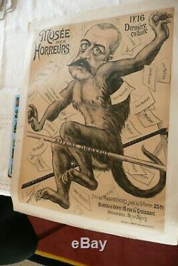 Tres Rare Affiche Du Musee Des Horreurs Lenepveu 1900 Antisemitisme