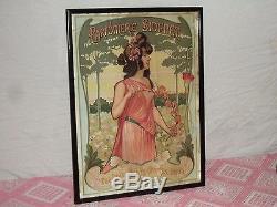 Très belle affiche Art nouveau Parfumerie Sidenet époque 1900