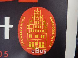 Tres rare rouleau d'époque 50 affiches publicitaires Gruwell Mekka Tabak 84x59cm