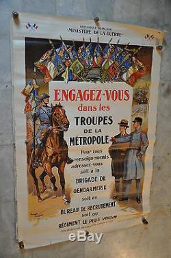 Troupes de la Métropole / Ministère de la guerre 1928/ Signée Toussaint