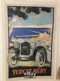 Turcat-mery Marseille Automobiles Affiche Rarissime