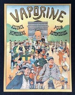 VAPORINE Essence pour Automobile Superbe Affichette lithographiée / E. Le Mouel