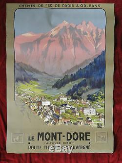 Vintage Poster Alo Le Mont-Dore Auvergne Chemin de Fer de Paris à Orléans