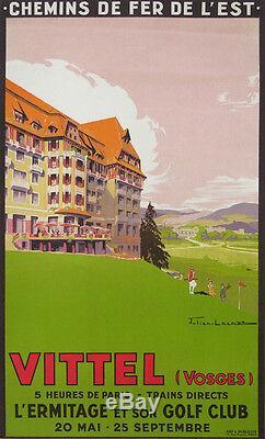 Vittel Grand Hotel L'ermitage Et Son Golf Club (vosges) Affiche Ancienne