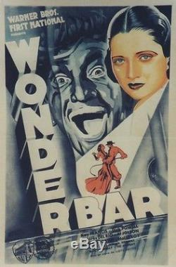 WONDER BAR Affiche entoilée Joseph KOUTACHY 44x63cm / Lloyd BACON / Al JOLSON